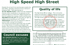 20 MPH for our High Street - at last!